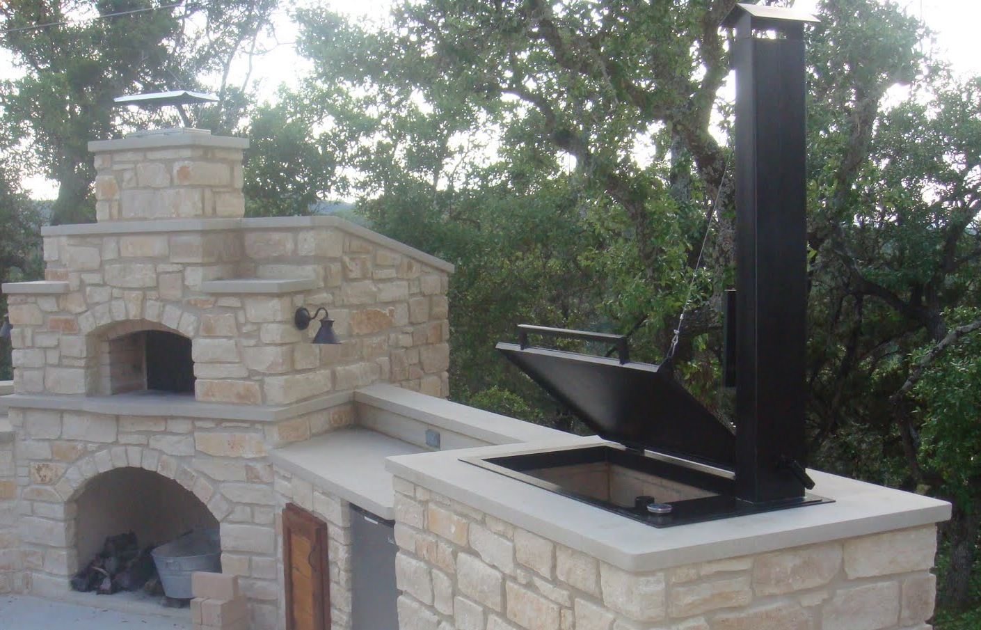 texas oven co your wood fired pizza oven makes a great smoker