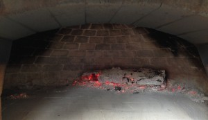let wood burn down to coals in wood-burning pizza oven, your wood-fired pizza oven makes a great smoker