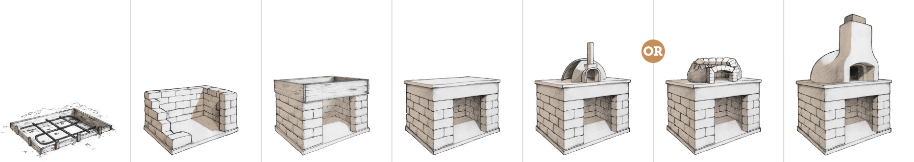 wood-fired oven project drawing