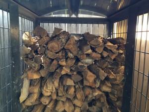 Split logs to season wood