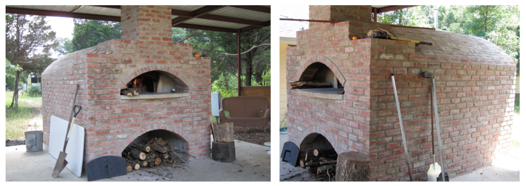 at Restoration Homestead they bake bread in custom barrel shaped oven
