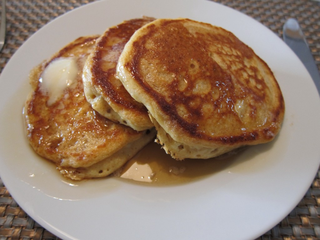 Amy's pancake recipe from soft winter white wheat milled at home.