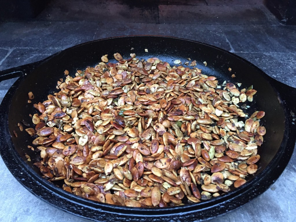 toasting seeds and nuts pumpkin seeds