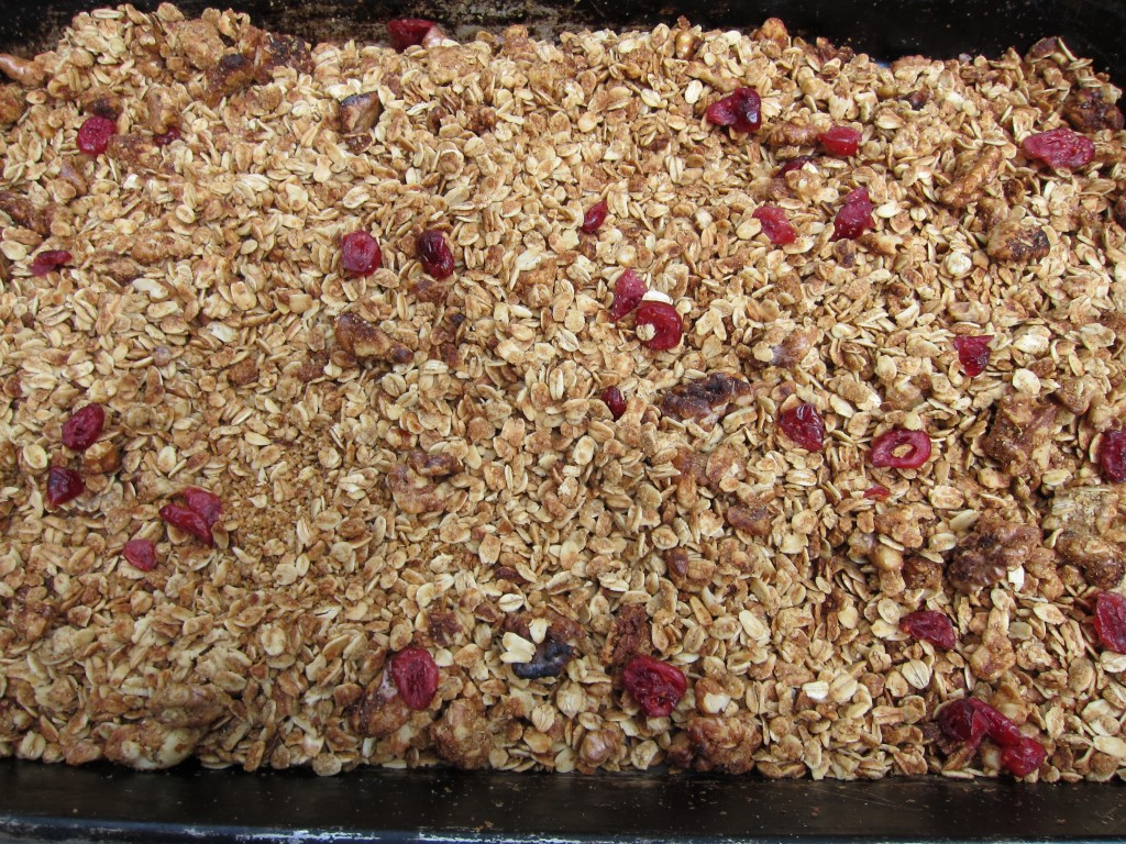 toasting seeds and nuts granola