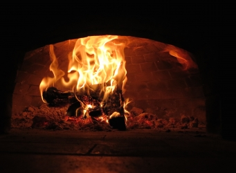 convection in wood-burning oven pizza oven circular convection
