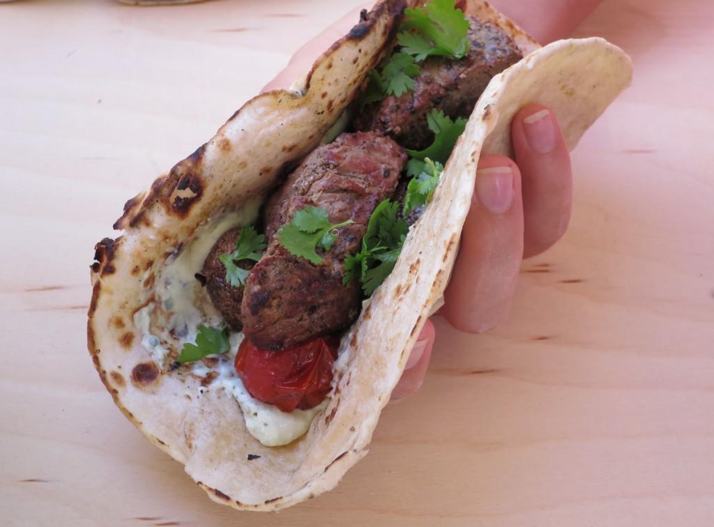roti chapati kabob wrap