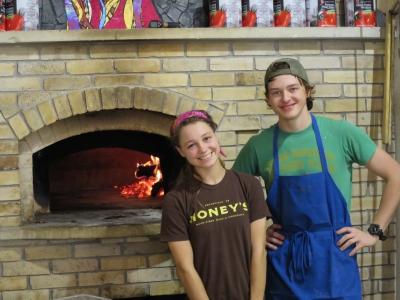 wood-fired oven pizza oven Honey's Smithville