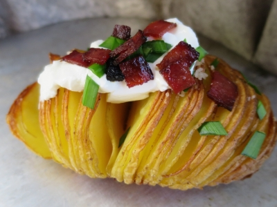 Hasselback potato show-stopping side texas oven co wood-fired oven