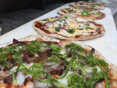 BBQ pizzas
