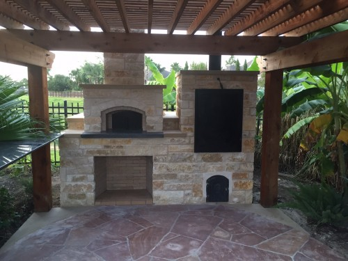 wood-fired oven and smoker