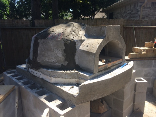 oven kit installation mortar on exterior only