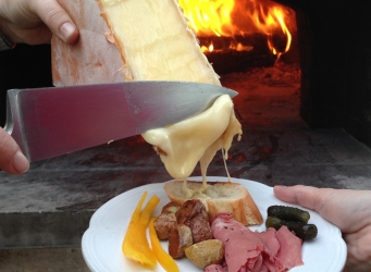 scrape raclette cheese wood-fired oven