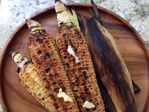 summer corn cartelized in wood-fired oven