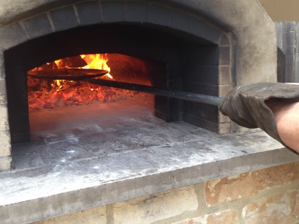 best homemade gyro meat crisped under wood-fired oven vault