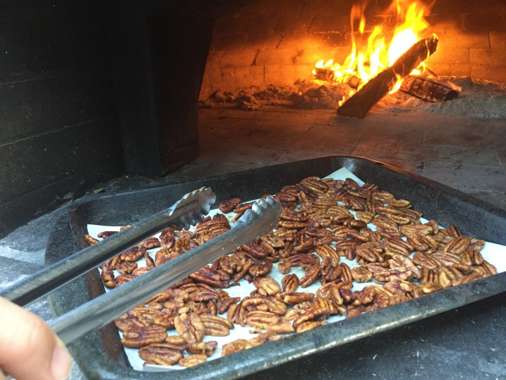 roasted pecans bourbon rosemary maple syrup