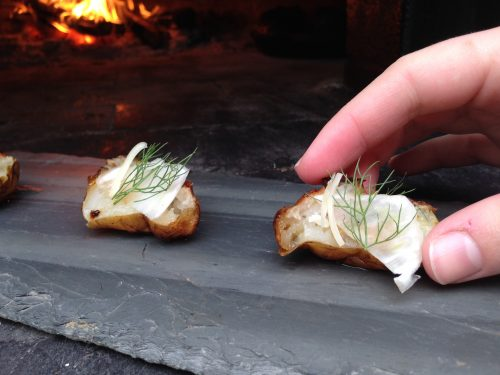 sunchokes fire roasted with parmesan cheese and fennel