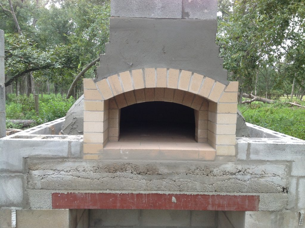 building a wood-burning oven core pizza oven core